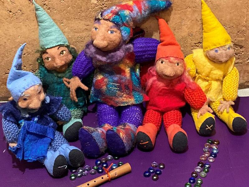 Knitted Gnomes from Class ONE